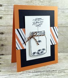 Stampin Up Jar of Haunts Stamp Set, Holiday Catalog, Halloween, cute litte spiders www.stampstodiefor.com