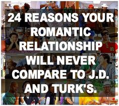 funny scrubs, turk and jd, romant relationship, funni thing, relationships