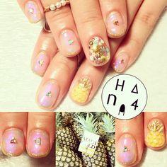 #pinapple #Swarovski #kirakira #tiedye #summer #readyforsummer #summernails #hana4 #nail #hana4art #nailart #nailarts #art #nailsdone #handpaint #handpainted #手描きアート #arts #nailsbyhana4 #nailmeetsart Anyway #Scawaii から出た#パイナップル が表紙のネイルブックはみんな見てくれたかなー???