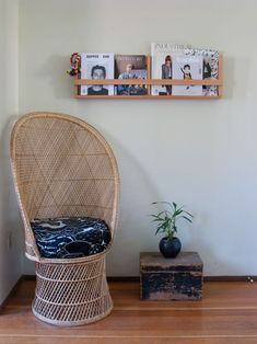 """Sneak Peek: Leah Lawrence & Billy Bartels. """"This is our cat Bones' (not pictured) favorite chair. We like it almost as much as he does. We both love magazines and have built several types of holders around the house to display our favorites."""" #sneakpeek"""