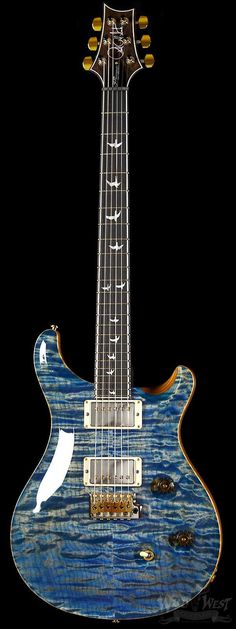 "PRS ""Perfect World"" Wood Library 30th Anniversary Custom 24 Quilt Faded Blue Jean w/ Rosewood Neck"