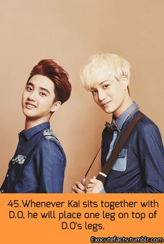 EXO FACT ♡ #KPOP - 45 O.o Not a KaiSoo shipper, but this is CUTE!
