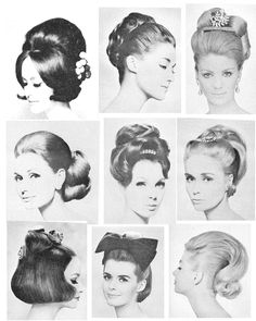 1960 Hairstyles, Vintage Hairstyles For Long Hair, Cool Hairstyles, Hair Reference, Anatomy Reference, 1960s Fashion Women, Beauty Skin, Hair Beauty, 1960s Hair