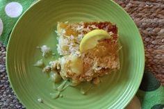 Tropical Lemon Coconut Dump Cake | TheBestDessertRecipes.com