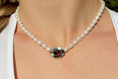 Diamond, Jewelry, Necklaces, Accessories, Brooches, Neck Chain, Little Flowers, Jewelry Gifts, String Of Pearls
