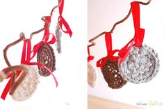 the new crochet: Christmas ornament from your old T-shirt (+ patter...