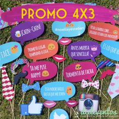 PROMO 4X3: Props de colores