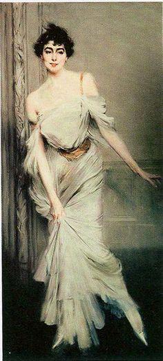 Boldini, Ritratto di Madame Charles Max, portrait of Madame Juillard in red 1