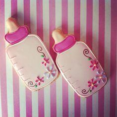It 39 s a girl baby shower cookies by flour de lis flour - Aperitivos para baby shower ...