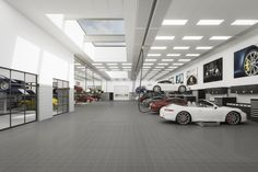 3d-visual of the new porsche center in mannheim / germany. nice shop!