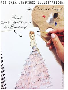 Fabulous Doodles: Met Gala Red Carpet Inspired Fashion Illustrations