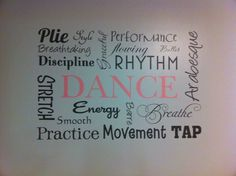 Love this dance studio wall idea!! #wallideas #walldecor #gallerywall