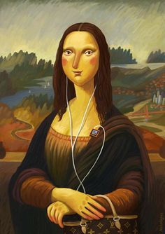 1000 images about art with earphone on pinterest sony for Can you buy the mona lisa
