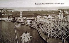 Marine Lake, Rhyl - I easily rode that figure 8 roller coaster 100 times, I loved it! North Wales, Countries Of The World, Roller Coaster, Old Pictures, Childhood Memories, Seaside, City Photo, Past, Louvre
