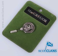 Pewter tie pin with the MacGregor Clan Crest - from ScotClans