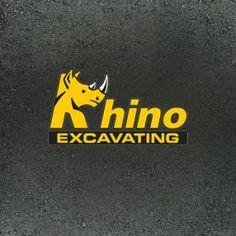 "EZMarketing designed this logo for ""Rhino Excavating""."