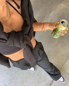 40s Mode, Mode Emo, Mode Ootd, Adrette Outfits, Cute Casual Outfits, Fashion Outfits, Black Outfits, Fashion Pants, Looks Chic