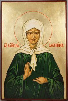 Saint Matrona of Moscow Hand-Painted Byzantine Icon