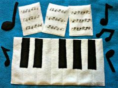 Piano quiet book page