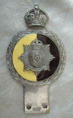 SUPERB LARGE WW2 ? JR GAUNT ROYAL HAMPSHIRE REGIMENT MILITARY ENAMEL CAR BADGE (04/15/2012)