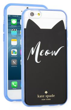 This super-cute hard-shell phone case by Kate Spade is designed to protect the iPhone while showing off the love for cats.