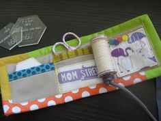 Sewing kit for making quilting hexagons.  Made On Main Street: Traveling Hexagons