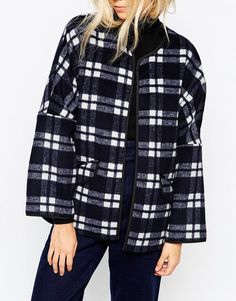 Parka London | Parka London Katarina Coat In Wool Check at ASOS