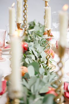 Candlelit wedding reception | Claire Graham Photography  | see more on: http://burnettsboards.com/2015/04/coral-peach-wedding-editorial/