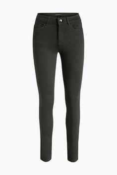 Esprit / 4-way-stretch shaping jeans dark green donker groen