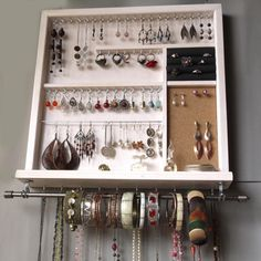 Your place to buy and sell all things handmade Jewellery Storage, Jewellery Display, Jewelry Organization, Necklace Holder, Jewelry Holder, Tiny House Closet, Plain White Background, Wall Installation, Easy Wall