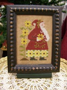 Sunflower Santa cross stitch pattern by The Sunflower Seed