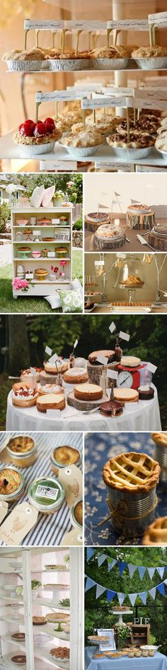 Cake buffet, guests bring their best bakes for deserts.