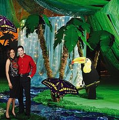 Our Enchanted Amazon Theme Decor will transform your party room into the ultimate jungle scene!