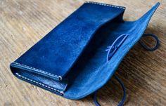 Pochette porte-stylo en cuir avec fermeture par ByHandStore sur Etsy