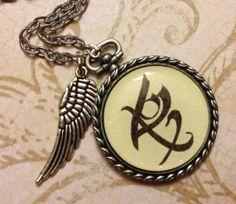 Mortal Instruments Infernal Devices Antique Rune Necklace Pendant YOU CHOOSE RUNE