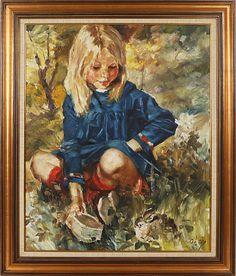 Auktion | Charles Roka oljemålning | Stockholms Auktionsverk Online | 803163 Beautiful Paintings, Children, Art, Young Children, Art Background, Boys, Kids, Child, Kunst