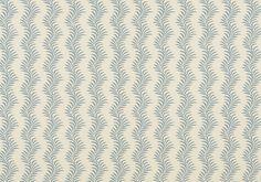 Scrolling Fern Silhouette Wallpaper - Azure | Soane