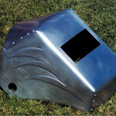 Bad ass looking handmade welding hood . There is not many feelings better that the one you get out of hand making a tool that you use every day. Welding Hood, Welding Caps, Welding Projects, Projects To Try, Chop Saw, Cool Garages, Wood Artwork, Hand Making, Iron Work