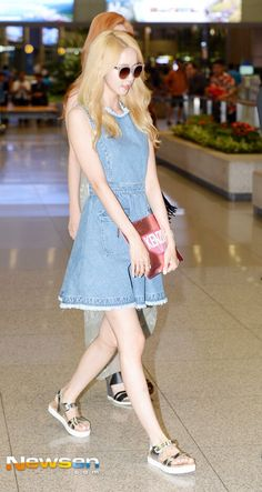 Snsd Yoona airport fashion style