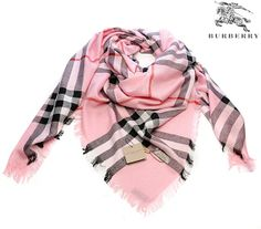 Pink BURBERRY scarf - ahhh always wanted one of ...