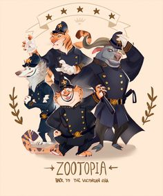 ZOOTOPIA: Back To The Victorian Era by caicaibia late victoriran police suits #zootopia