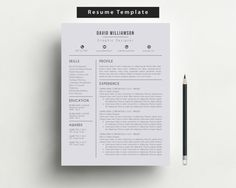 Resume Template with Free Cover Letter and Reference Letter/Instant Download Editable MS Word Format