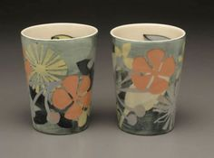 """Naomi Cleary, """"Atomic Shapes Vases"""""""
