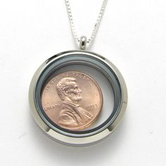 A lucky penny locket for a 21st birthday!  1993 US Penny Locket Necklace 21sth Birthday or by CoinCollection