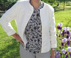 Veste mi saison Floral Tie, Fashion, Sewing, Hands, Jacket, Moda, Fashion Styles, Fasion