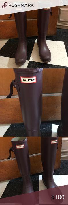 Purple Hunter boots Knee high purple Hunter rain/snow boots Hunter Boots Shoes Winter & Rain Boots