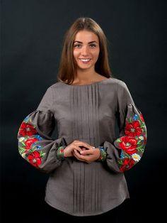 Блуза серая с вышивкой - Volyns'ka Vyshyvanka