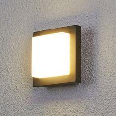 Applique d extérieur LED Elian gris foncé sortie de lumi¨re réglable