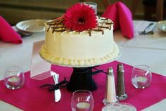 Cake as the centerpiece. Save on cake price AND on centerpiece price!