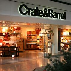 I would live at the Crate & Barrel store if I could. I love everything about it and every product they sell.